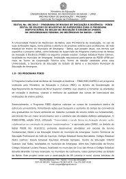 Edital Nº 08/2013 - Seleção de Supervisores - UFRB