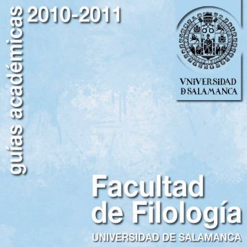 Filologia 2010-2011 - Gredos - Universidad de Salamanca