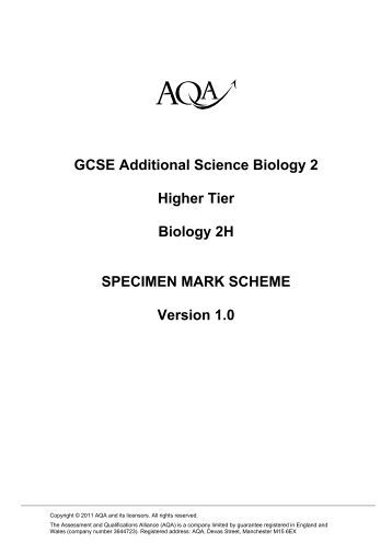 Biology Mark Scheme Research Paper Example