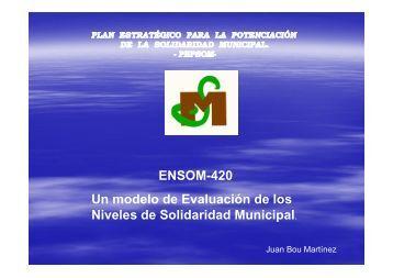 PROGRAMA ENSOM-420 - Universidad Politécnica de Valencia