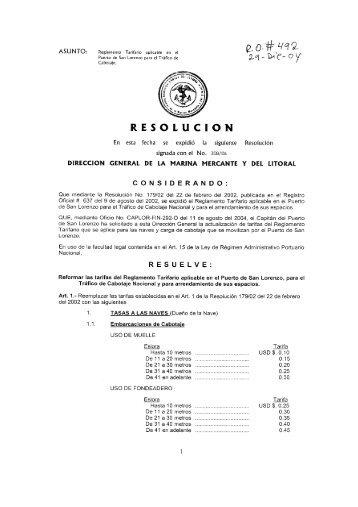 resolución - DIRNEA Dirección Nacional de los Espacios Acuáticos