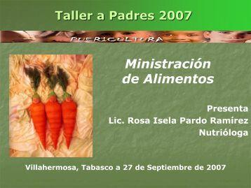Ministración de Alimentos - Centro Educativo Arturo Rosenblueth