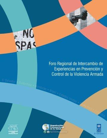 Foro Regional de Intercambio de Experiencias en Prevención y ...