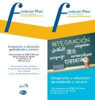 Inmigración y educación: aprendiendo a convivir - Fundación Pfizer
