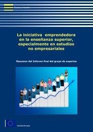 La iniciativa emprendedora en la enseñanza superior ... - cdiex