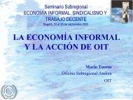Economía Informal - OIT en América Latina y el Caribe