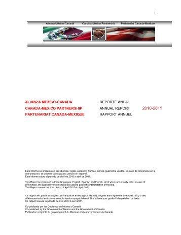 1 alianza méxico-canadá reporte anual canada-mexico partnership ...