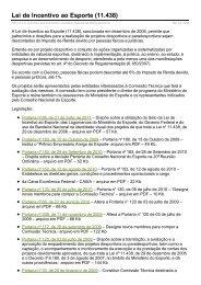 Lei de Incentivo ao Esporte (11.438)