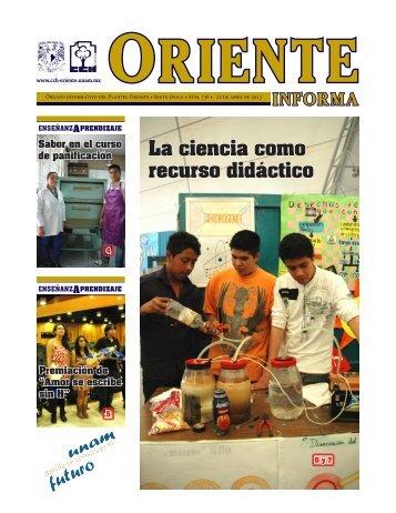 La ciencia como recurso didáctico - CCH Oriente - UNAM