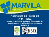 Protocolo JFM - ISEL - Junta de Freguesia de Marvila