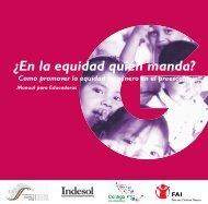 Qué es la equidad de género? - Save the Children México