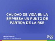 Maria Elena Mejia, CELTEL-TIGO - Fundación Hondureña de ...