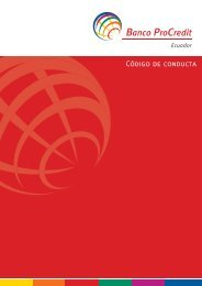 Código de conducta - Banco ProCredit
