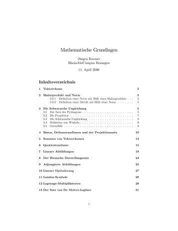 Mathematische Grundlagen - RheinAhrCampus