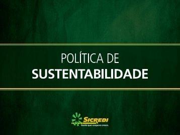 Política de Sustentabilidade - sem depoimento - Sicredi