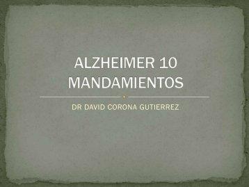 ALZHEIMER 10 MANDAMIENTOS