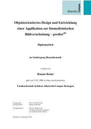 Objektorientiertes Design und Entwicklung einer ... - RheinAhrCampus