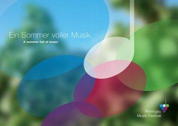 Ein Sommer voller Musik - Rheingau Musik Festival