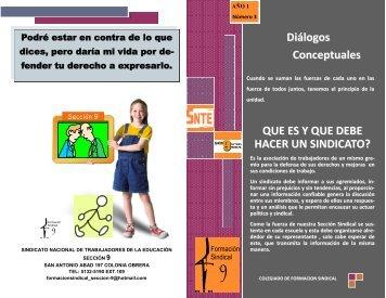 Diálogos Conceptuales - Sección 9 del SNTE