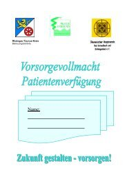 Vorsorgevollmacht und Patientenverfügung - Rheingau - Taunus ...
