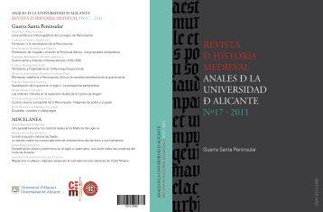 revista ð historia medieval anales ð la universidad ð alicante nº17