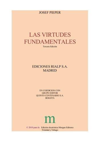 Pieper Las virtudes fundamentales.docx - Santo Tomas de Aquino