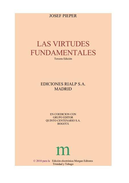 Pieper Las Virtudes Fundamentalesdocx Santo Tomas De Aquino