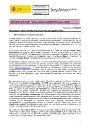 CASOS DE INFECCIÓN POR EL NUEVO CORONAVIRUS (hCoV ...