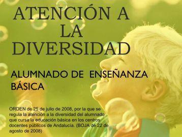 ATENCIÓN A LA DIVERSIDAD - Junta de Andalucía