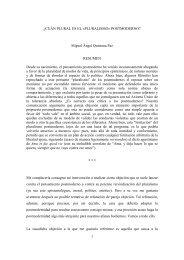 ¿Cuán plural es el «pluralismo» postmoderno? - Miguel Ángel ...