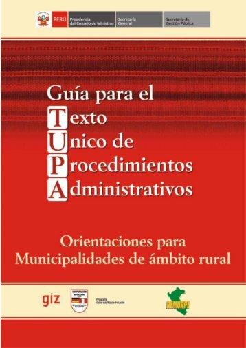 Guía TUPA - Remurpe