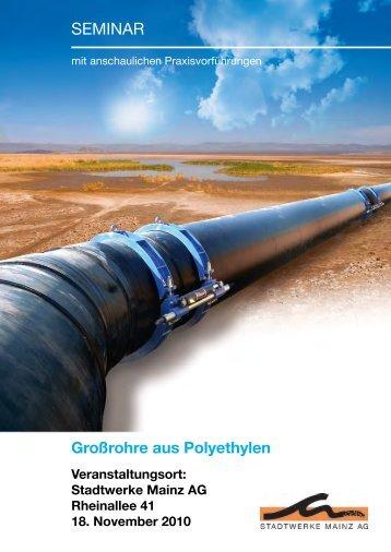 Großrohre aus Polyethylen - Friatec AG