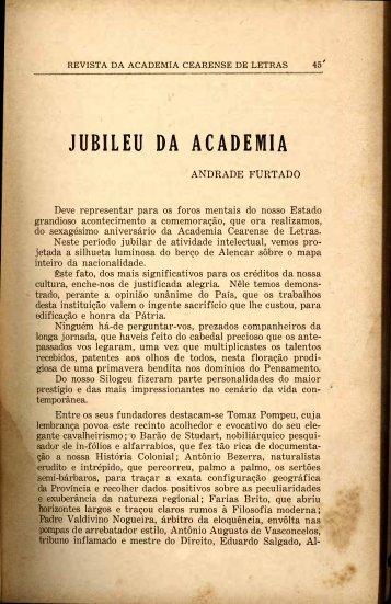 Jubileu da Academia - Andrade Furtado - Portal da História do Ceará