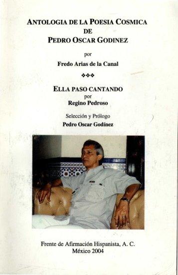 antologia de la poesia cosmica de pedro oscar godinez - Frente de ...