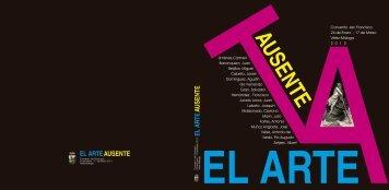 """catálogo """"el arte ausente"""" - Ayto. Vélez Málaga"""
