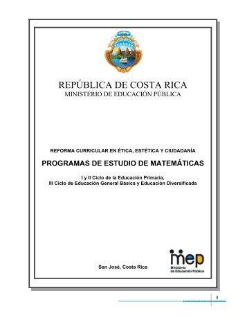programas de estudio de matemáticas