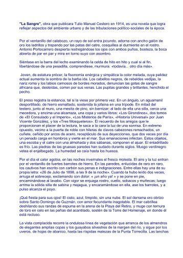 14) La Sangre de Tulio Manuel Cestero - Colegio Calasanz
