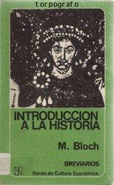 Marc Bloch, Introducción a la Historia