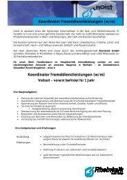 Koordinator Fremddienstleistungen (w/m) Koordinator ... - Rheinkalk
