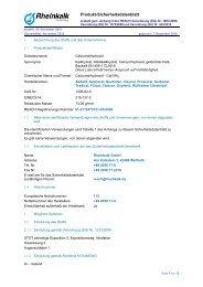 Calciumdihydroxid - Rheinkalk