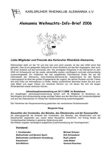 Infobrief 12/2006 - Karlsruher Rheinklub Alemannia eV