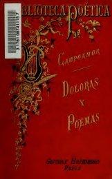 Doloras y poemas por Ramón de Campoamor. Con un prólogo de ...
