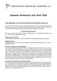 Infobrief Dezember 2003 - Karlsruher Rheinklub Alemannia eV