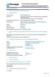 Calciummagnesiumoxid - Rheinkalk