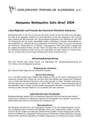 Infobrief 12/2004 - Karlsruher Rheinklub Alemannia eV