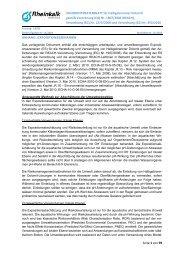 Calciummagnesiumcarbonatoxid Anhang - Rheinkalk