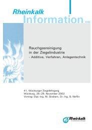 Anlagentechnik - Rheinkalk