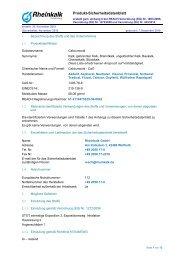 Sicherheitsdatenblatt Oxyfertil ® -Branntkalk - Rheinkalk KDI