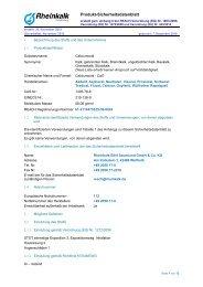 Calciumoxid - Rheinkalk