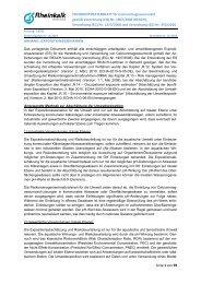 ANHANG: EXPOSITIONSSZENARIEN - Rheinkalk KDI